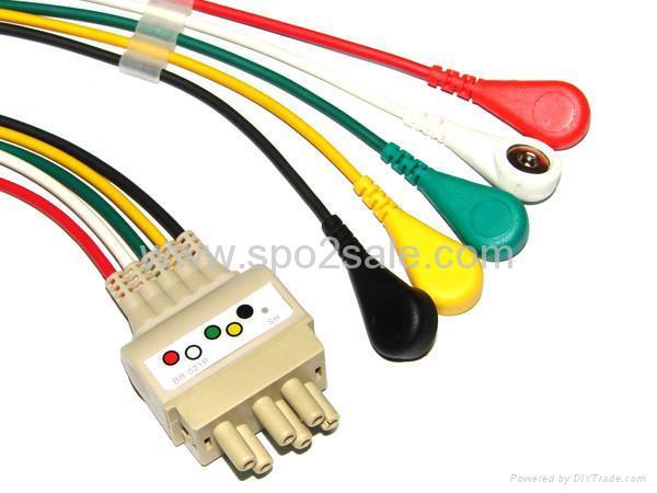 Compatible Nihon Konden BR-021P 5-leadwires 1
