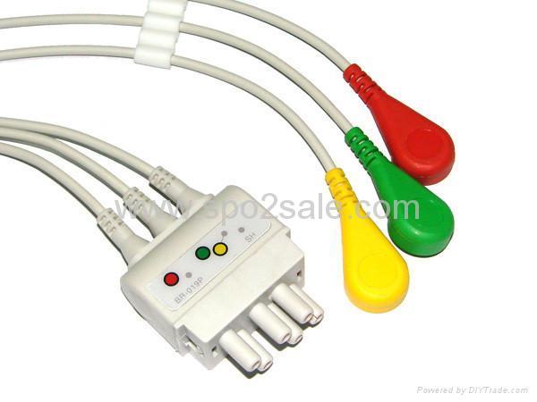 Compatible Nihon Konden BR-019 lead wires 1