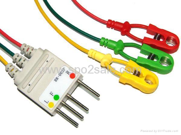 Compatible Nihon Kohden BR-002P 3-LD wires