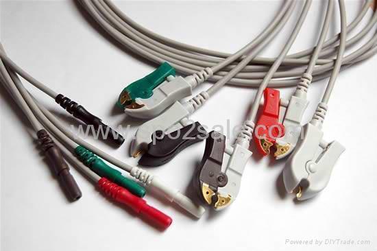 DIN Series 5-lead Clip leadwires 1
