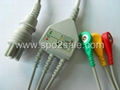 Colin BP-88S One piece 3-lead ECG Cable with leadwires 1