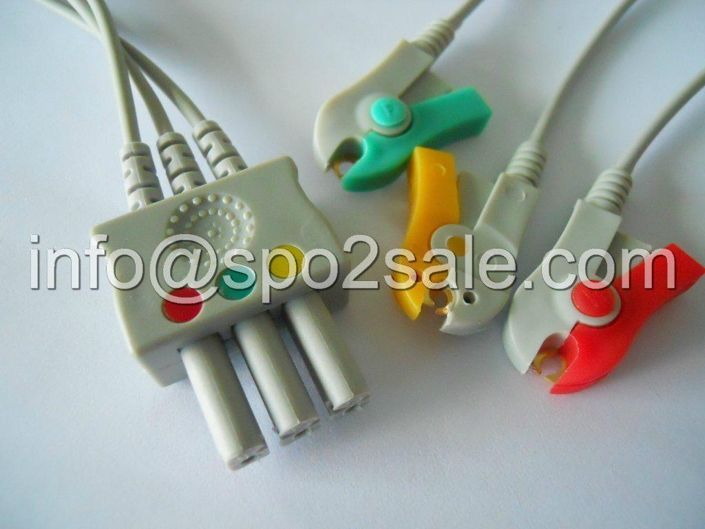 Siemens 5956433 3-Lead Grabber IEC Leadwires