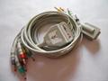 Burdick/Quinton EKG cable with leadwires (4.0 Banana ) 1