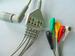 One Piece ECG Cables Colin BP88 IEC With Snap