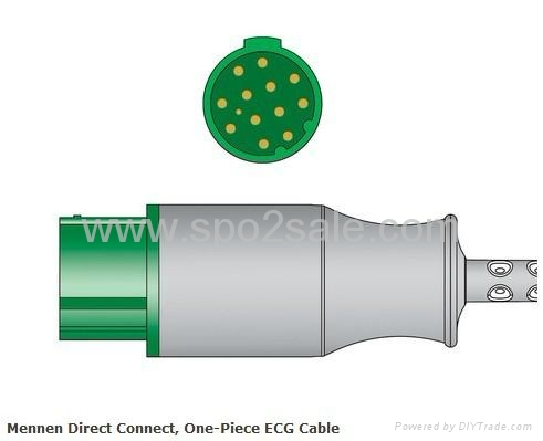 Mennen 13Pin Direct Connect, One-Piece ECG Cable 3