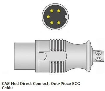 CAS Med Direct Connect, One-Piece ECG Cable 1