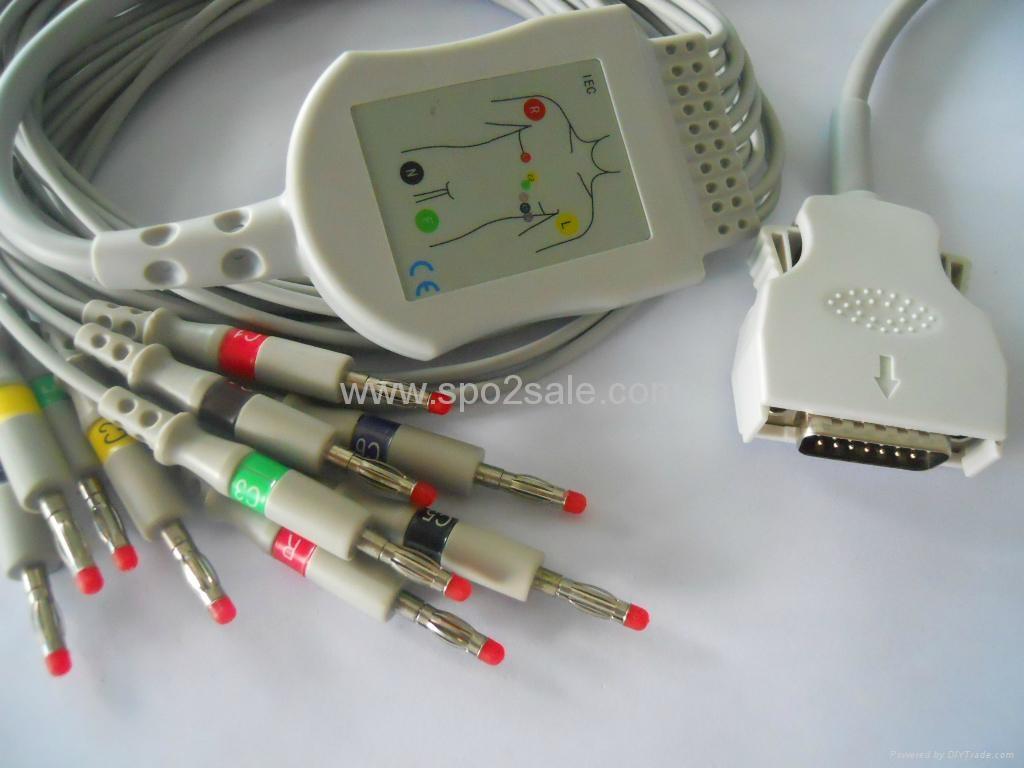 Mortara ELI 100/ELI 200/ELI 150/ELI 250 EKG Cable 1