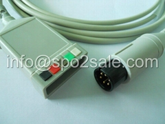 GE Pro1000 5 lead ECG Trunk cable