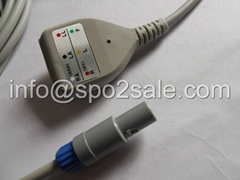 Biosys 3 Lead ECG Din type 3 lead Trunk cable