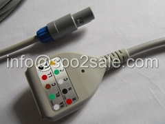 Creative 5 lead Din type ECG Trunk cable
