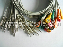 OEM 6 lead 3.5mm Stereo connector ECG Cable