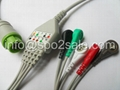 L&T one piece 5 lead ECG Cable with AHA