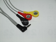 Creative 3 lead holter cable