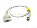 GE Rozinn E9002TD 5 lead holter cable
