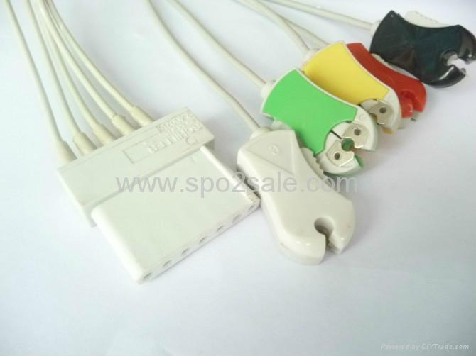 Schiller 5 ECG leadwires 1