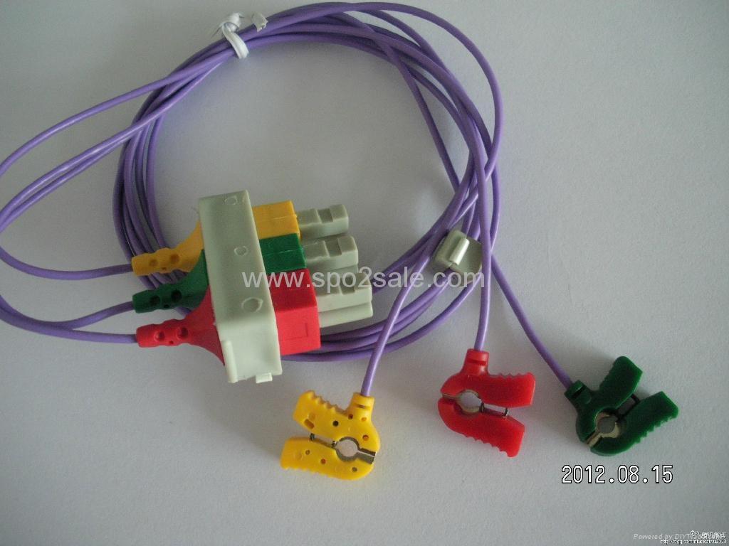 HP 3 lead pediatric ECG Leadwires 1