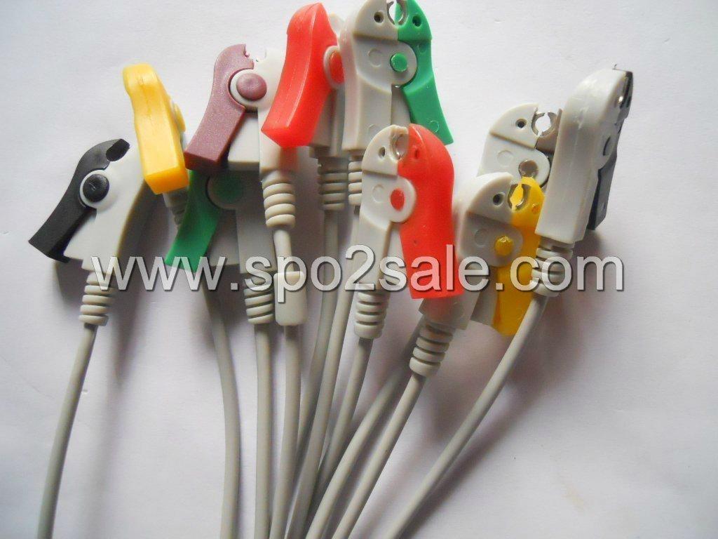 EKG 10 Leadwires,IEC,Clip