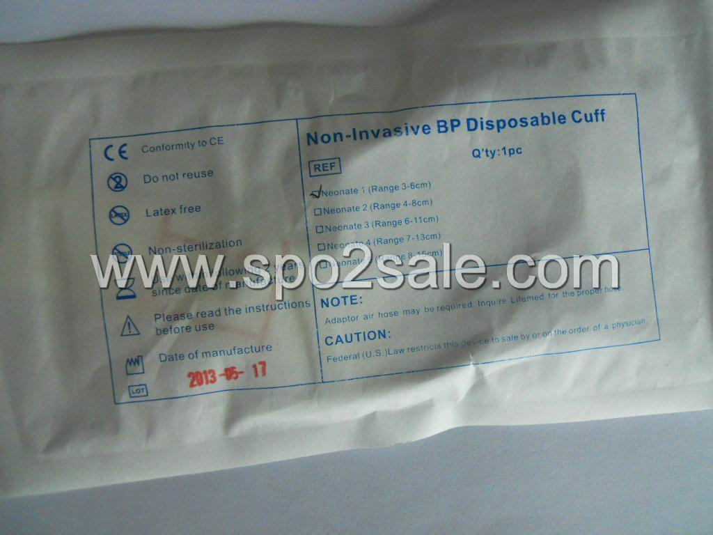 Disposable Neonatal dual tube NIBP cuff, 3-6 cm,No.1 2
