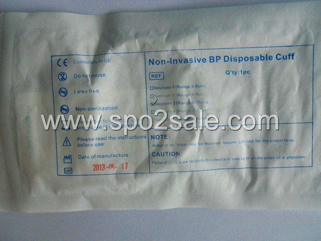 714-1030-01 Disposable Neonatal single tube NIBP cuff, 6-11 cm,No.3 2