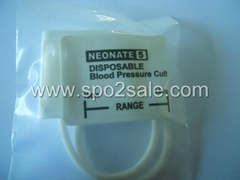 5082-105-2 DISPOSABLE CUFFS NEONATES, Neo #5 , two-Tube, Arm width=8.9~15.0cm