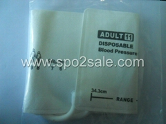 5082-96-4 DISPOSABLE CUFFS,adult#11,two-Tube, Arm width=25.3~34.3cm