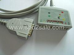 GE Multi-Link 22341808 12-Lead ECG Standard Cable, AHA, 12 ft. (3.6M)