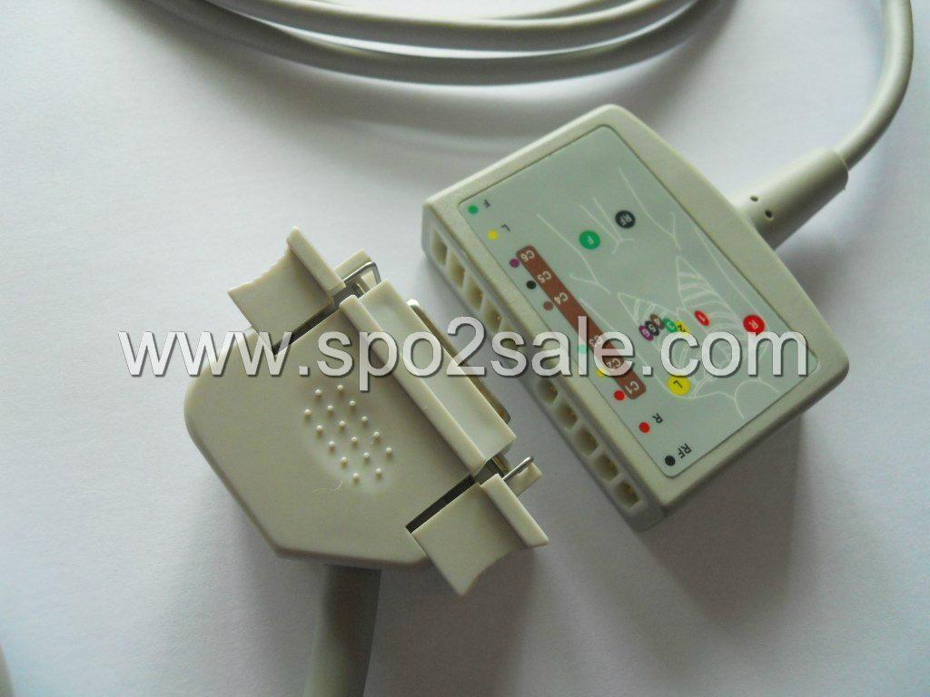 Hellige 22341801 12-Lead ECG Standard Cable, AHA, 12 ft. (3.6M) 1