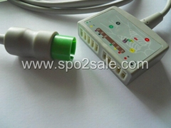 Spacelabs 700-0008-01 12-Lead ECG Standard Cable, AHA, 12 ft. (3.6M)