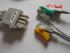 日本光電BR-903P三導夾式導連線