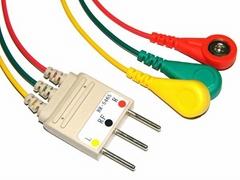 Nihon Kohden BR-546S 3 Leadwires,IEC,Snap