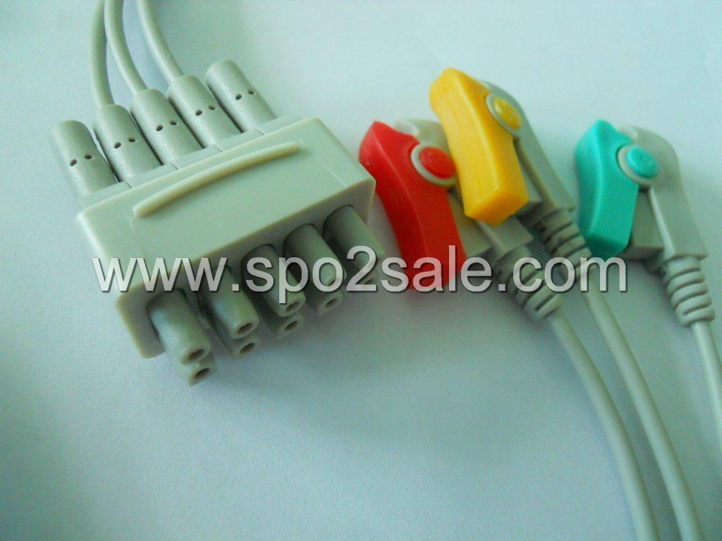 GE 412682-004(E9003CP) 3 Leadwires,IEC,Clip 1