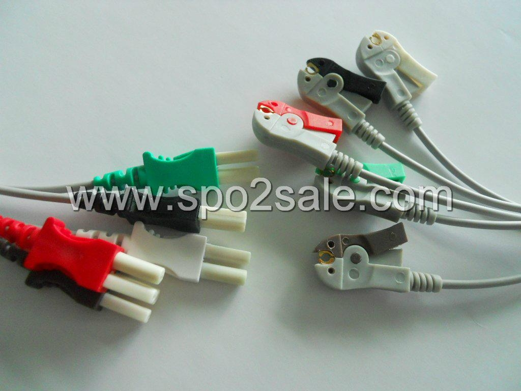 Spacelabs 700-0006-10  5-lead leadwires 1