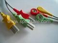 Spacelabs 700-0007-03 3-Lead IEC Snap