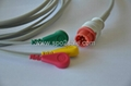Compatible with Bionet BM3 one piece Cable with 3-lead IEC Snap leadwires