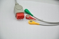 Compatible with Bionet BM5 one piece Cable with 3-lead IEC Snap leadwires  1