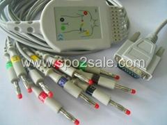 Cardioline ar1200View or ar600ADV or ar2100View EKG Cable
