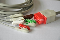 Compatible with Bionet BM5 one piece Cable with 5-lead IEC Clip leadwires