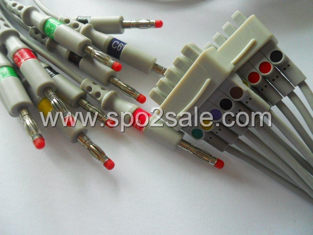 GE-Marquette Multi-Link 38401816 10-lead EKG leadwires 1