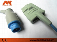 Nihon Kodhen Round 10Pin adult soft tip Spo2 sensor