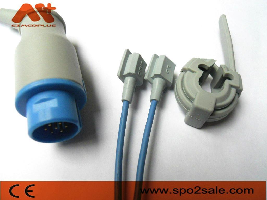 Nihon Kodhen Round 10Pin adult soft tip Spo2 sensor 5