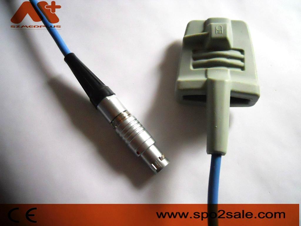 CSI(Criticare)  975AD-10L Adult Silicone Soft Tip Spo2 Sensor 1