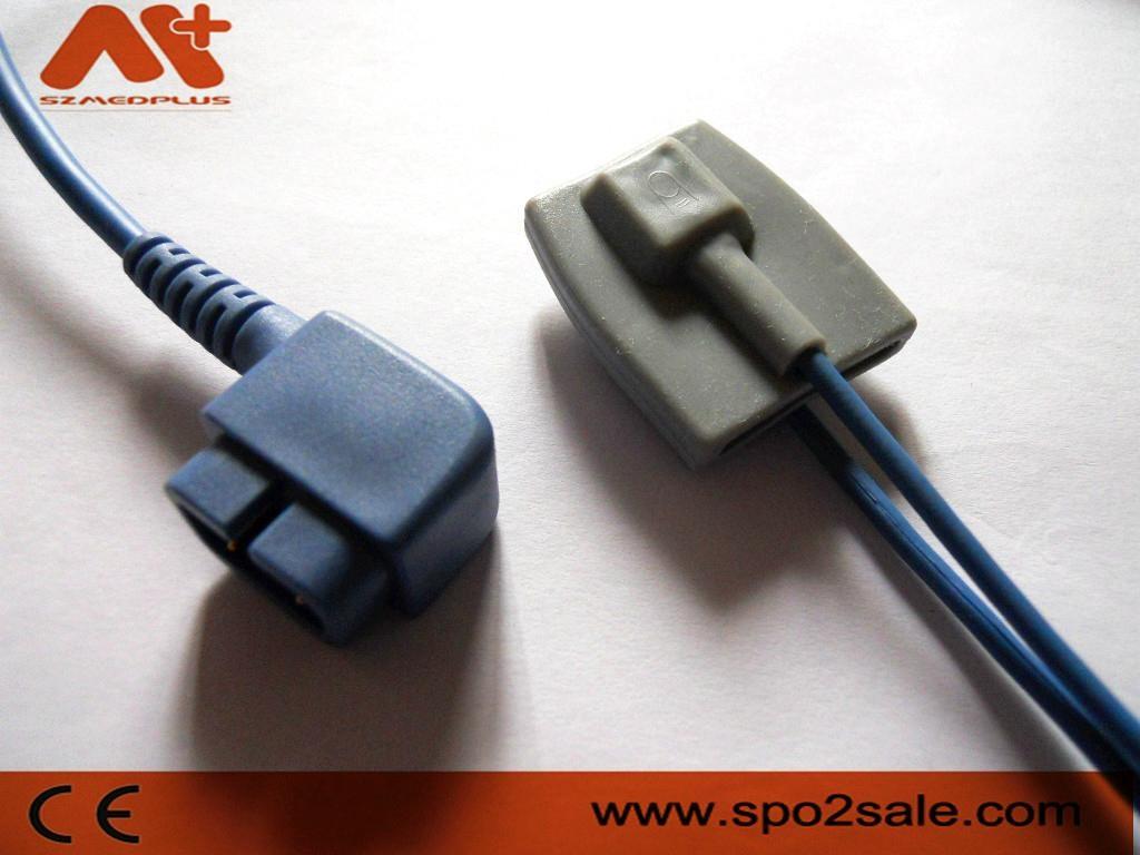 CSI DB9 975PD-10 Pediatric Silicone Soft Tip Spo2 Sensor 1