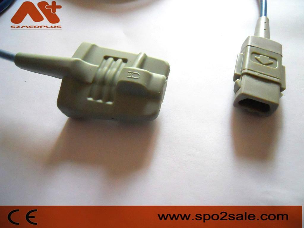 Compatible with GE Datex-Ohmeda Trusat Adult soft tip Spo2 sensor 1