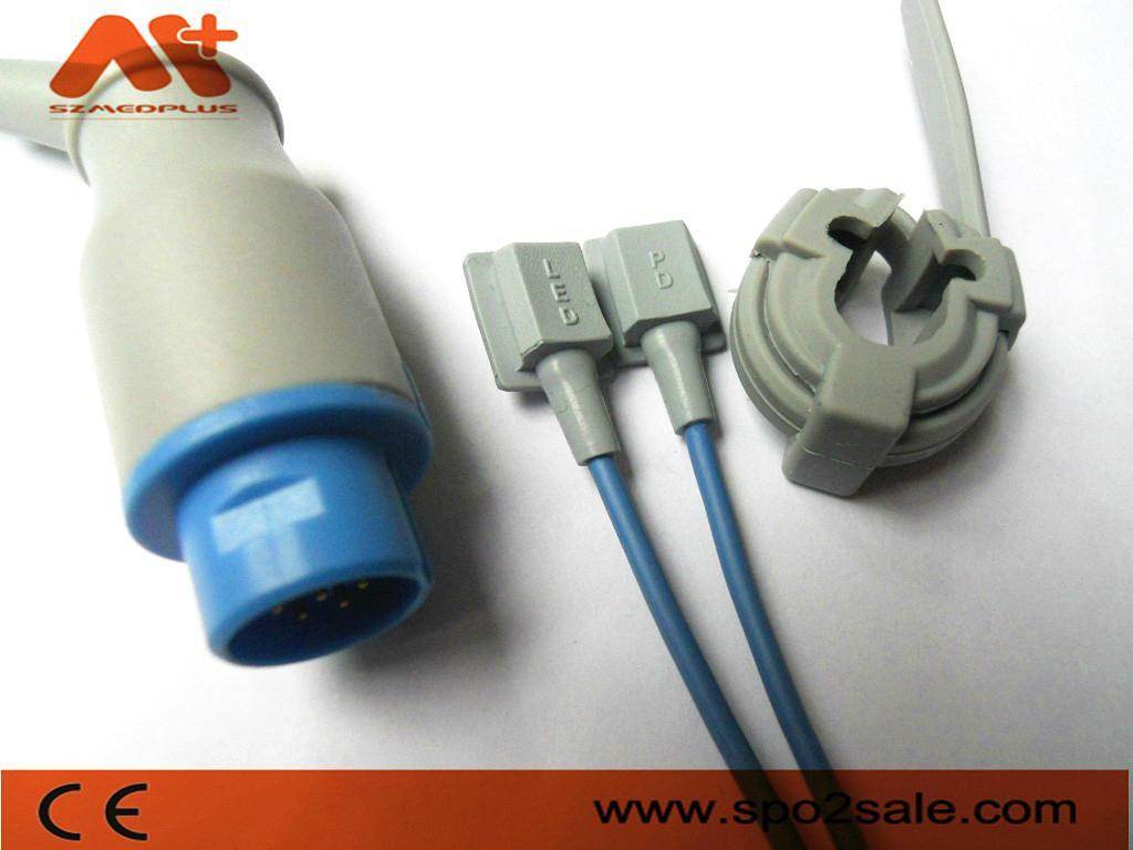 Nihon Kohden TL-101S 10Pin adult finger clip Spo2 sensor 5