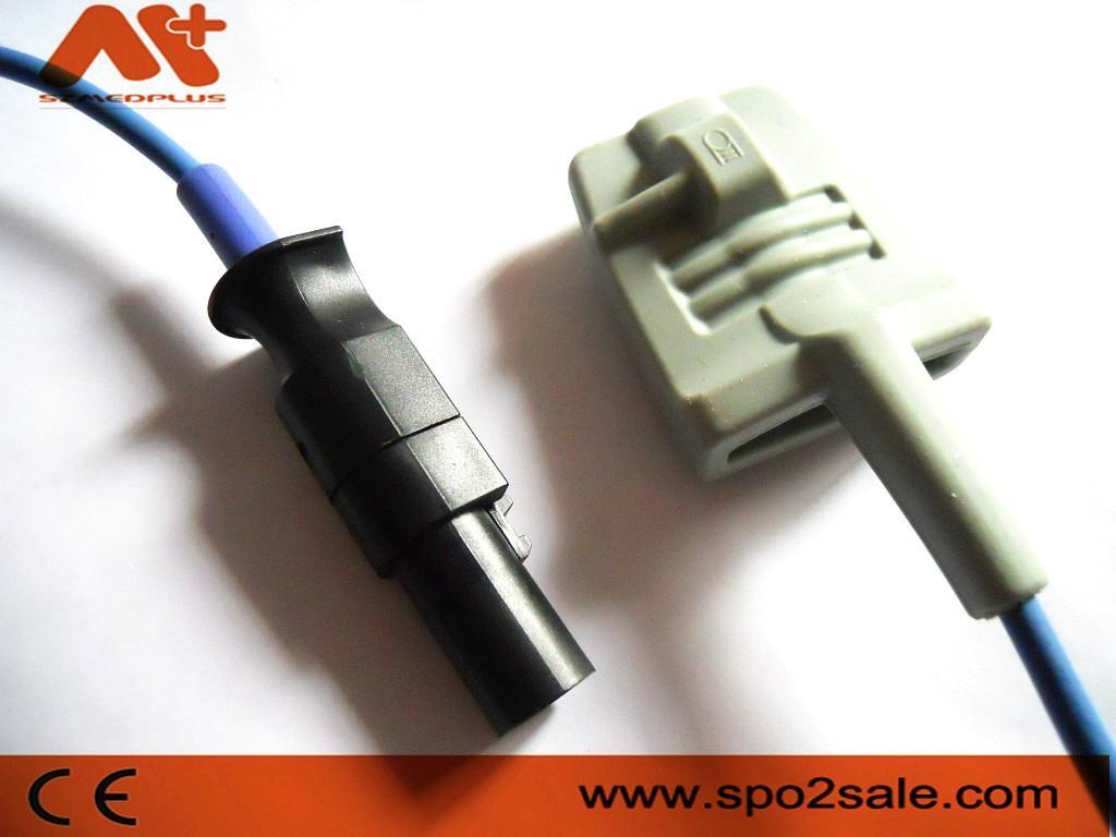 Spacelabs 600015 Adult silicone soft tip Spo2 sensor  1