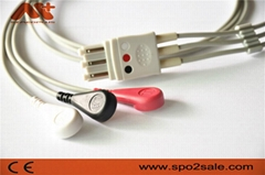 Compatible Philips® M1673A Compatible ECG Lead Set
