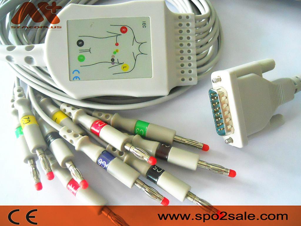 Welch Allyn EKG Cable CP10,CP20,CP50,CP300,Series AT,Series SP,Series CT