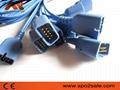 Spo2 Molded cable for Nihon Kodhen,0.9M