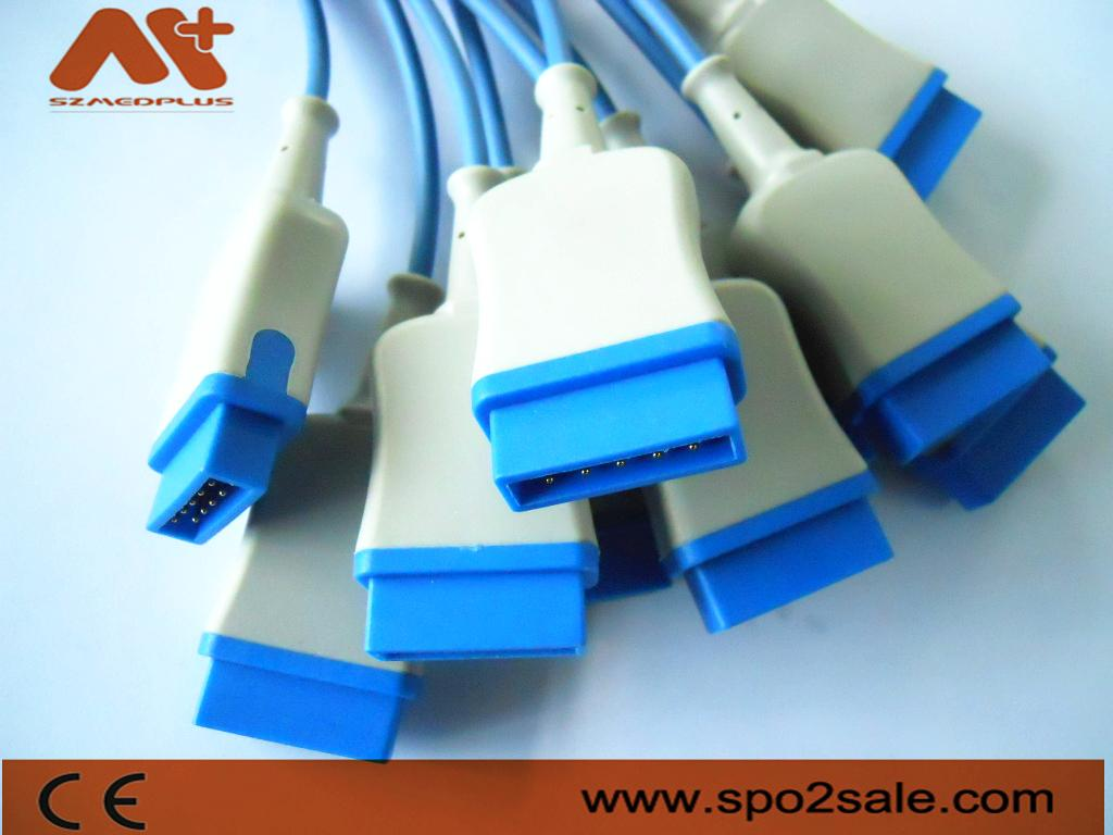 Spo2 molded cable for GE-Marquette,2.7 M 3