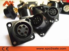 AMP6针心电插座